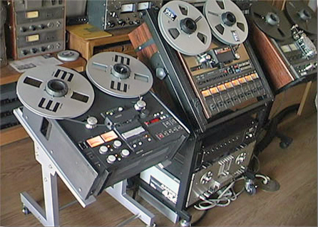 Otari reel tape recorder in the Reel2ReelTexas.com vintage recording collection