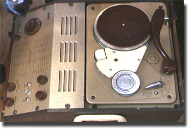 Pentron AstroSonic wire recorder, AM radio and phonograph unit in the Reel2ReelTexas.com vintage recording collection