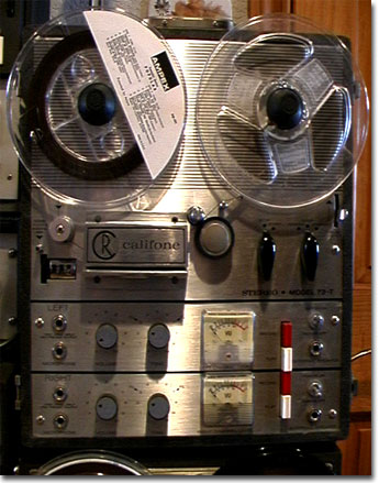 1976 Rheem Califone 72-X  reel tape recorder in the Reel2ReelTexas.com vintage recording collection