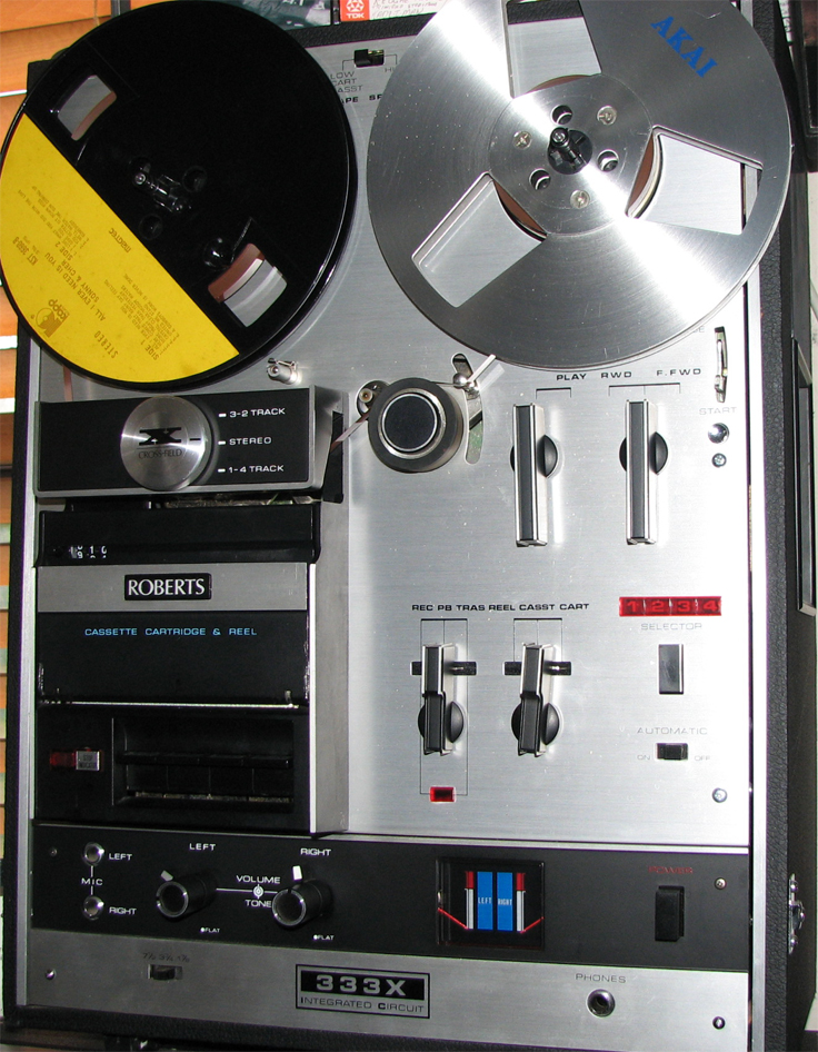 Roberts 333X reel to reel tape recorder in the Reel2ReelTexas.com & Museum of Magnetic Sound Recording vintage recording collection