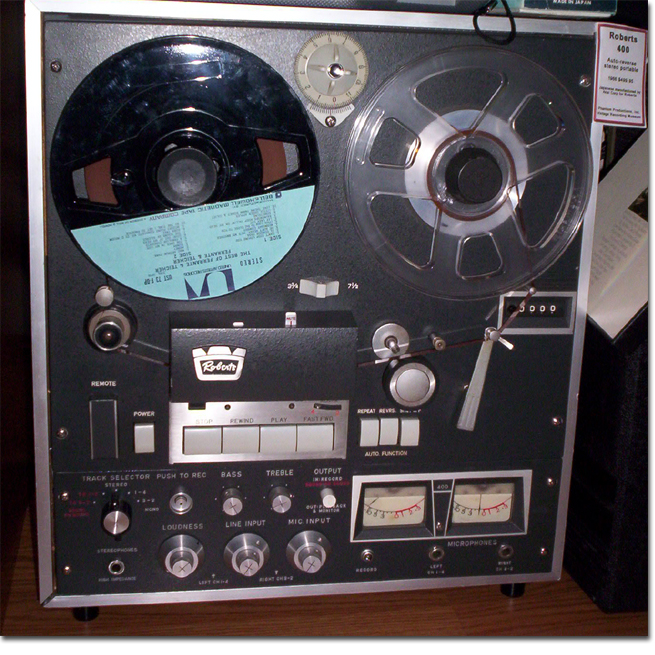 1962 Roberts 400 reel tape recorder in the Reel2ReelTexas.com vintage recording collection