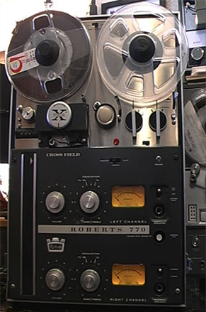 1964 Roberts 770A reel tape recorder in the Reel2ReelTexas.com vintage reel tape recorder recording collection