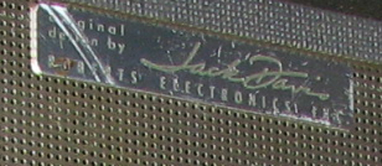"Roberts ""Original Design by Jack Davis"" logo on reel tape recorder in Phantom productions vintage tape recorder collection"