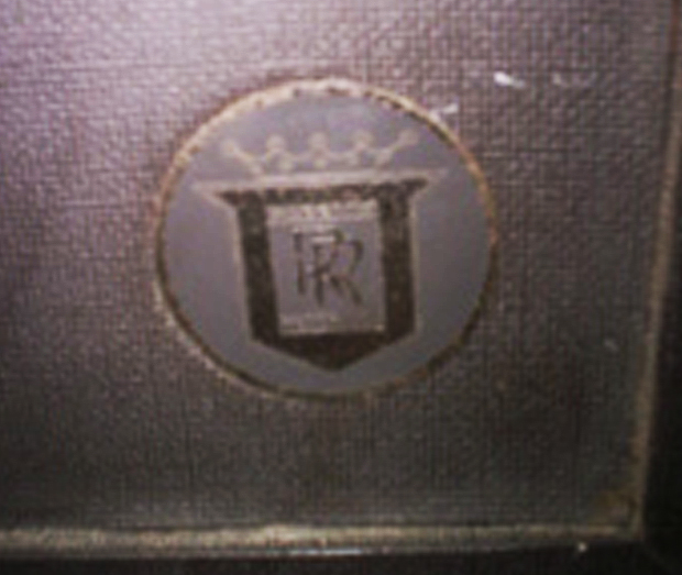 early Roberts reel tape recorder logo in Reel2ReelTexas.com vintage reel tape recorder collection.