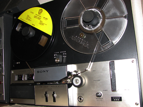 1965 Sony TC-350  reel tape recorder  in the Reel2ReelTexas.com vintage recording collection