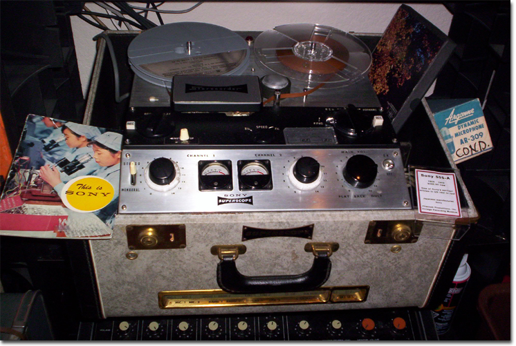 Sony 555 reel tape recorder in the Reel2ReelTexas.com reel to reel tape recorder vintage reel tape recorder recording collection