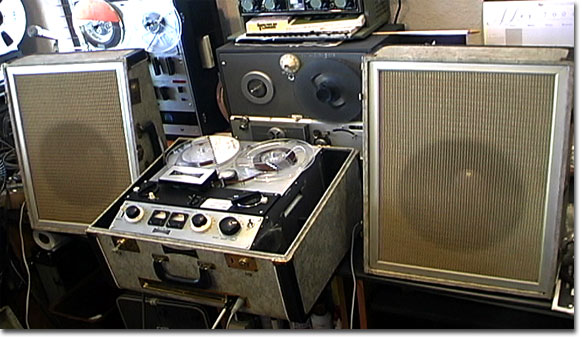 Sony 555 reel tape recorder from 1959  in the Reel2ReelTexas.com reel to reel tape recorder vintage reel tape recorder recording collection