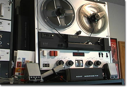 1963 Sony TC-600 reel tape recorder   in the Reel2ReelTexas.com vintage recording collection