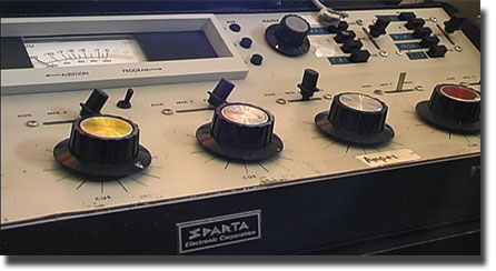 Sparta Broadcast Radio station console in the Reel2ReelTexas.com reel to reel tape recorder vintage reel tape recorder recording collection