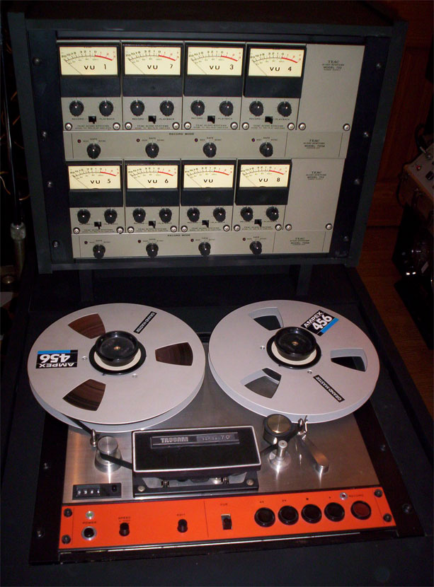 "First Teac Tascam 8 track 1/2"" reel to reel tape recorder in the Reel2ReelTexas.com vintage reel tape recorder recording collection"