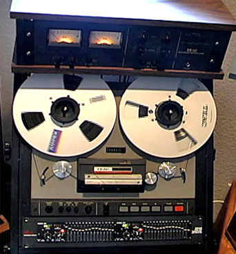 Teac 35-2 two Track mastering reel to reel tape recorder in the Reel2ReelTexas vintage reconding collection