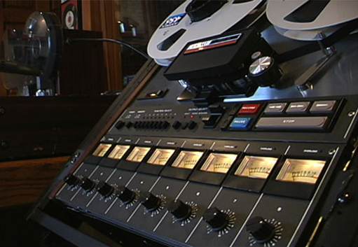 Teac Tascam 80-8 eight Track mastering recorder in the Museum of magnetic Sound Recording
