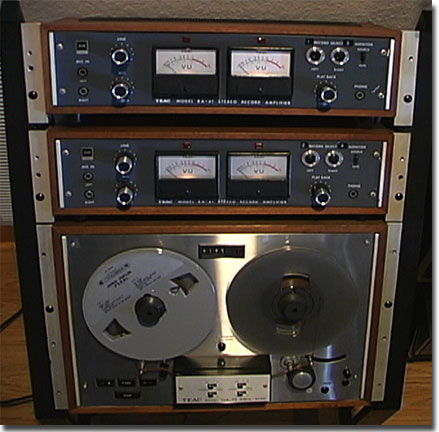 Teac TCA-43 4 track Simil-Sync reel to reel tape recorder in the Reel2ReelTexas.com vintage recording collection