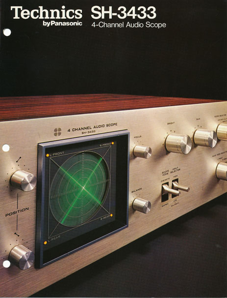 Technics SH-3433 4 channel scopein the Museum of Magnetic Sound Recording