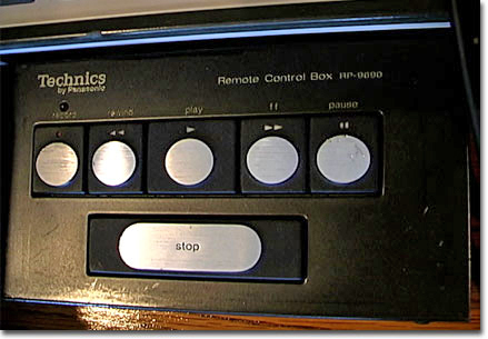 Technics remote in the Reel2ReelTexas.com vintage reel tape recorder recording collection