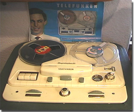 1962 Telefunken Magnetophon 85 reel to reel tape recorder in the Reel2ReelTexas.com vintage recording collection