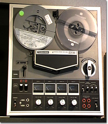 Toshiba PT-884 4 channel reel to reel tape recorder in the Reel2ReelTexas.com vintage recording collection