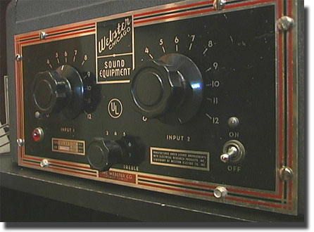 Webster Chicago Amplifier Mixer 2L25 in the Reel2ReelTexas.com vintage reel tape recorder recording collection