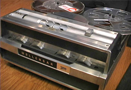 1965 Wollensak 1580 reel to reel tape recorder in the Reel2ReelTexas.com vintage reel tape recorder recording collection