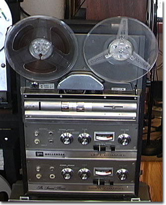 The Wollensak 1980 reel to reel tape rcorder in the Reel2ReelTexas.com vintage reel tape recorder recording collection